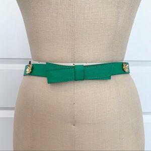 Kate Spade Green Bow Belt